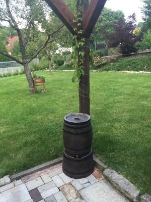 Regentonne in Weinfassoptik 240l